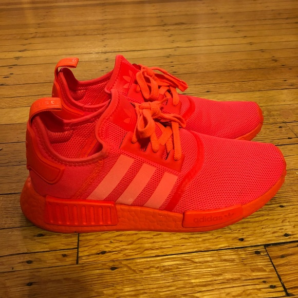 Adidas Shoes Nmd R1 Solar Red Mens 85womens 10 Poshmark